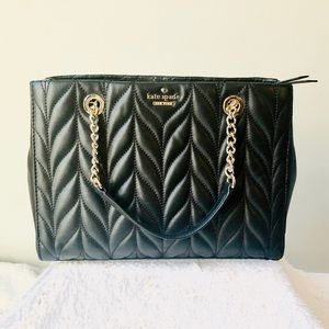 Kate Spade Quilted Menna Black Chain Crossbody Bag